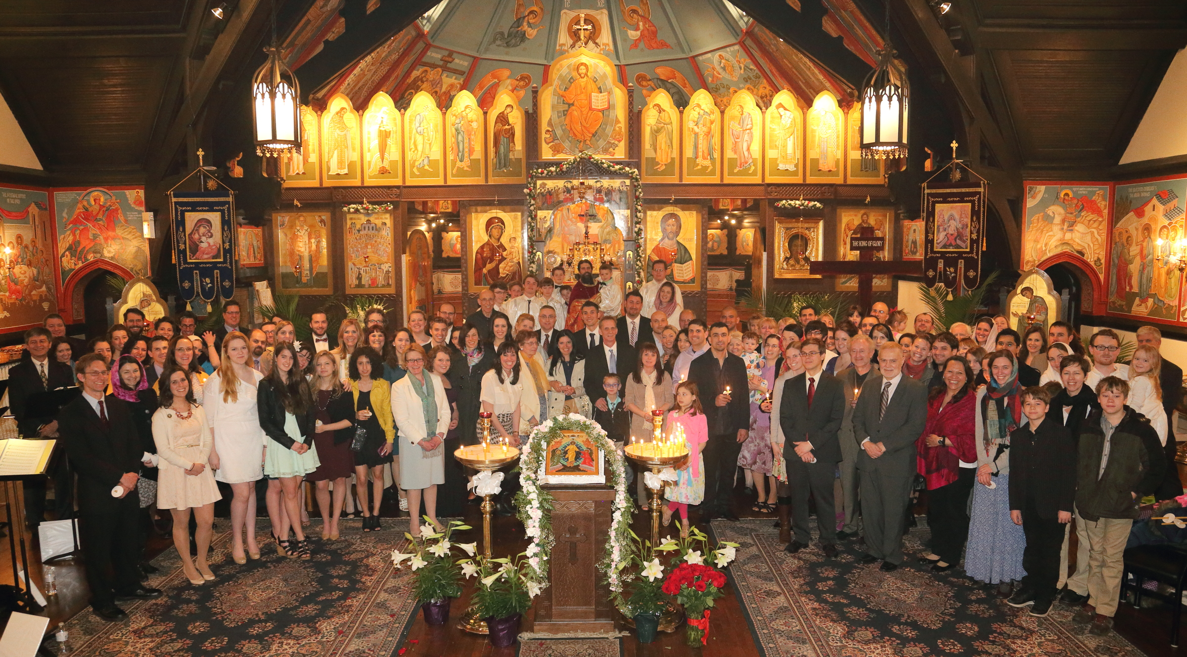 Iconostatis at Pascha